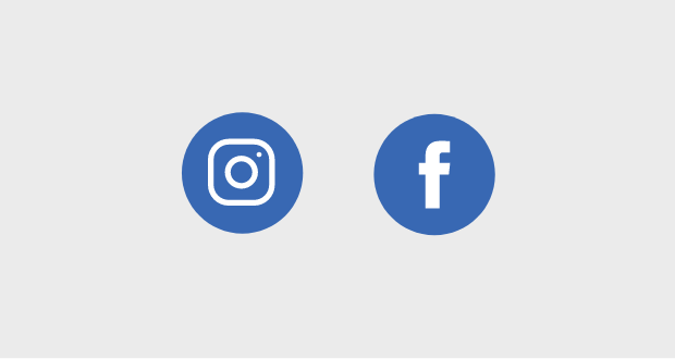 Instagram and Facebook icons